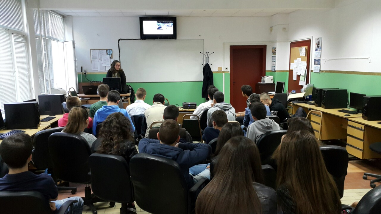 Lecture at First English Language School, 22.04.2016
