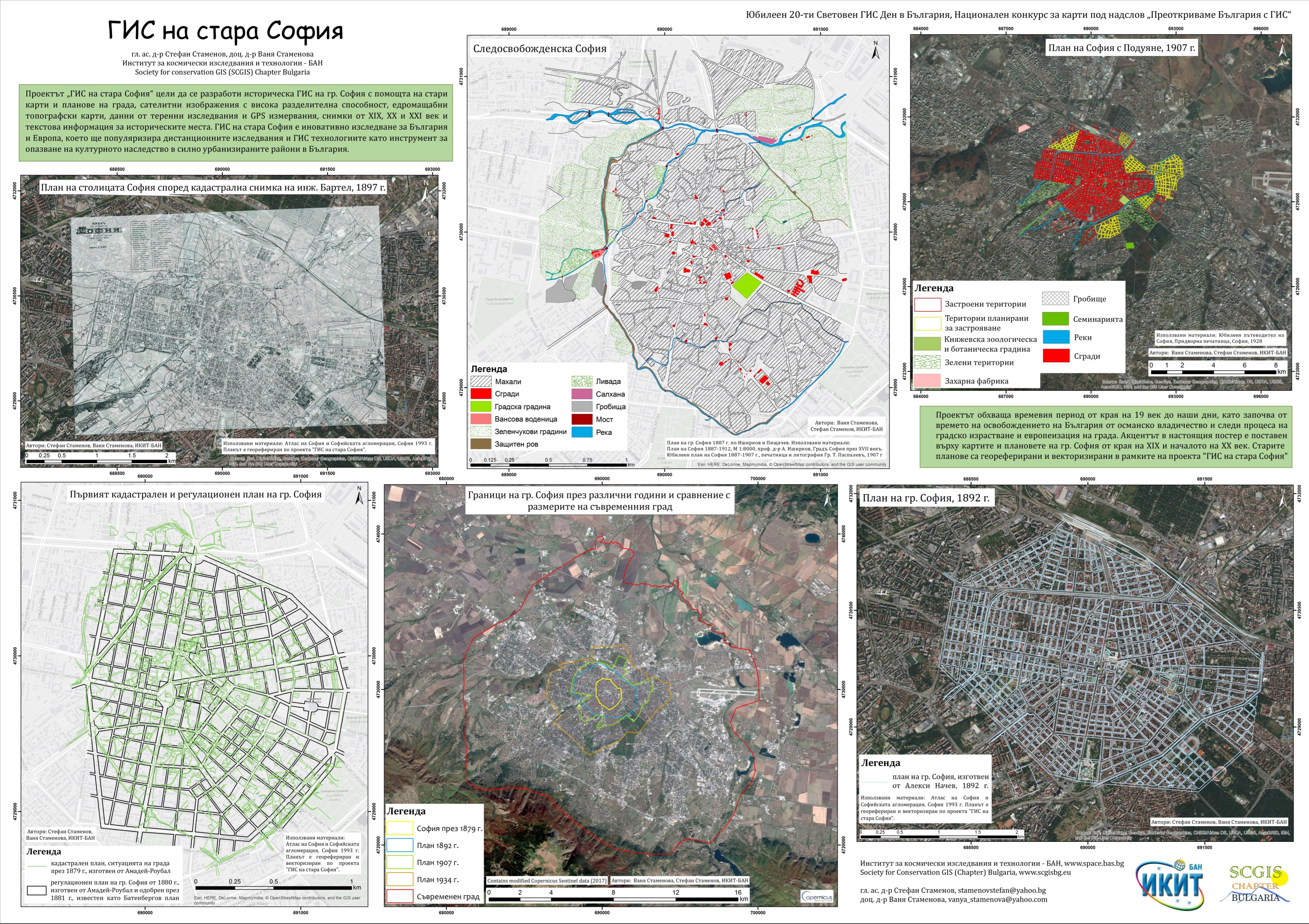 "Printed map ""GIS of old Sofia"""